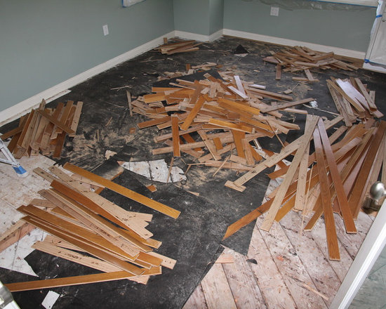 Residential remodel - Pacific Palisades - Old floor is being removed.