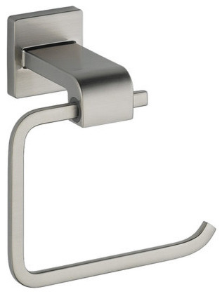 Delta 77550-SS Brilliance Stainless Ara Ara Toilet Tissue Holder contemporary-toilet-paper-holders