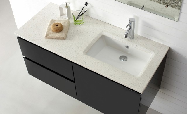 Manisa wall hung bathroom vanity contemporary bathroom vanity units sink cabinets - Bathroom vanity tops with offset sink design ...