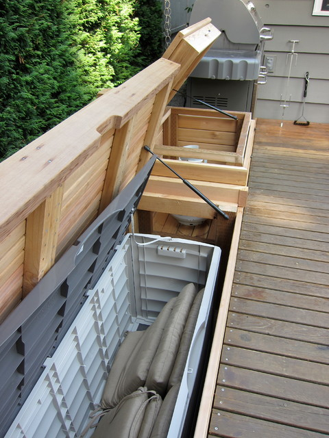1000 images about backyard on pinterest outdoor storage Deck storage bench