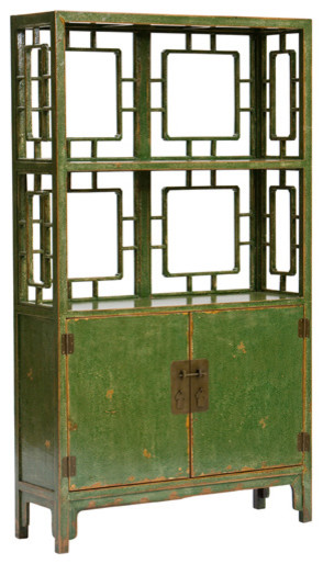 Chinese 2-Door Shelf asian-display-and-wall-shelves