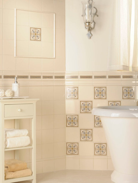 The Artworks Collection - Wall and Victorian floor tiles from Original Style's Artworks collection. Featuring decorative drop in tile sets and a custom Victorian floor tile pattern.