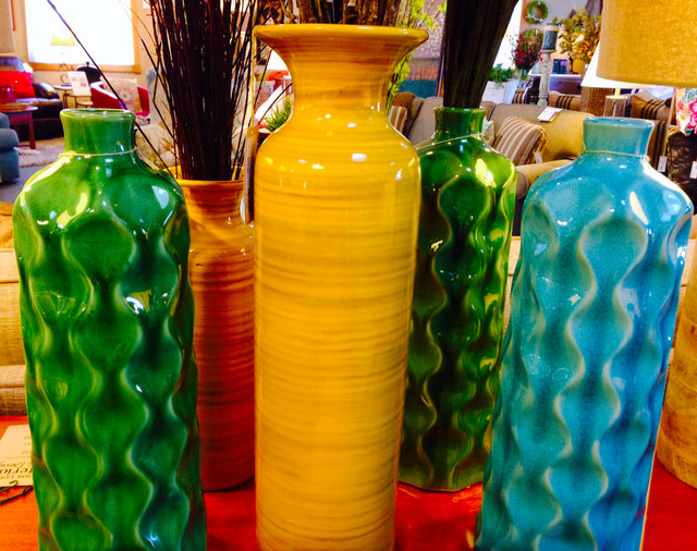 Green Colorbook beach-style-vases