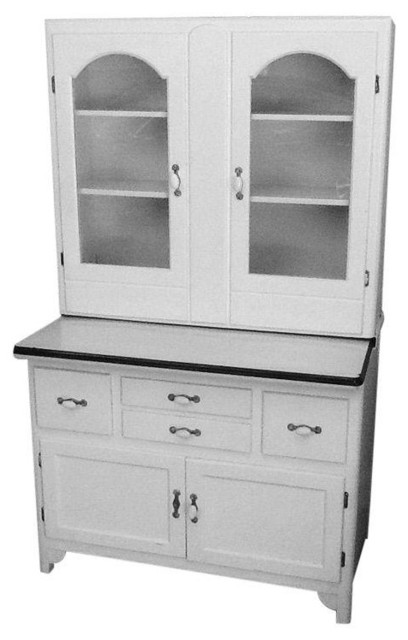 white hoosier cabinet with metal countertop farmhouse storage cabinets