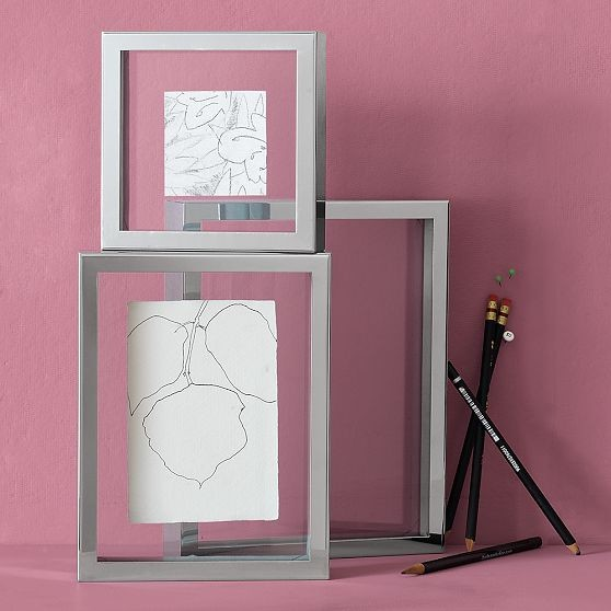 Steel Box Floating Frames Modern Picture Frames By