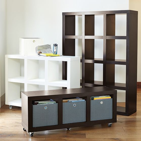Rolling Storage modern bookcases cabinets and computer armoires