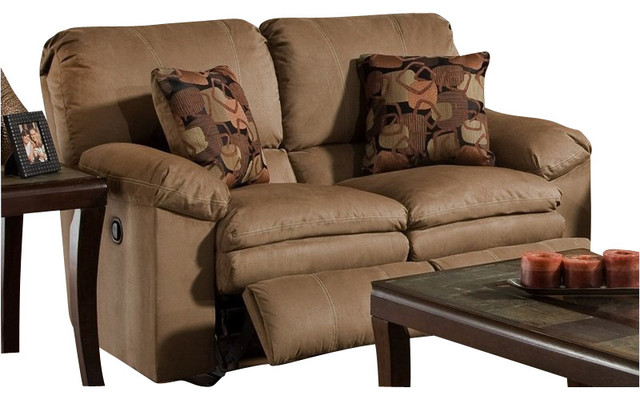Catnapper Impulse Reclining Loveseat in Cafe and Espresso transitional-accent-chairs