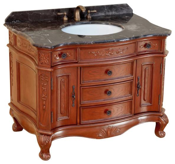 "Bosconi T-3804 43"" Classic Single Vanity traditional-bathroom-vanities-and-sink-consoles"