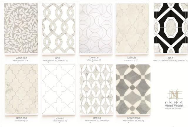 Mosaic floor-tiles