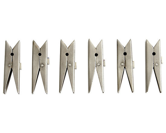 Ballard Designs - Axel Wall Organizer - Set of 6 Clothespin Magnets - Hand crafted of iron for durability. Aged pewter finish. Mounting hardware included. Rod, Storage Pockets, Hooks, Magnetic Strip & Clothespin Magnets sold separately. Cut out the clutter and keep your kitchen, workspace, craft room or fashion accessories organized with our versatile storage system. Start with the 34-inch Rod and mix and match accessories to maximize your storage potential. Use Clothespin Magnets on the Cup, Pocket and/or Metal Strip as a practical way to display recipes, coupons, receipts, memos, photos, postcards and more. Axel Wall Organizer features: . . . .