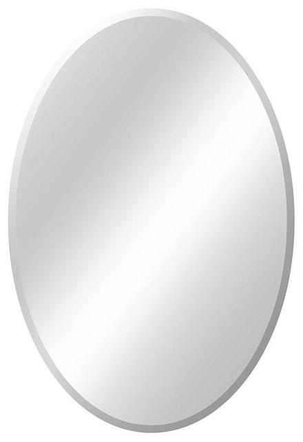 Glacier Bay Mirrors 21 In W X 31 In L Oval Beveled Edge Bath Mirror 81187 Contemporary