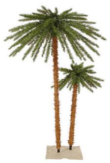 6 ft. Artificial Pre-Lit Christmas Palm Tree Set tropical-christmas-trees