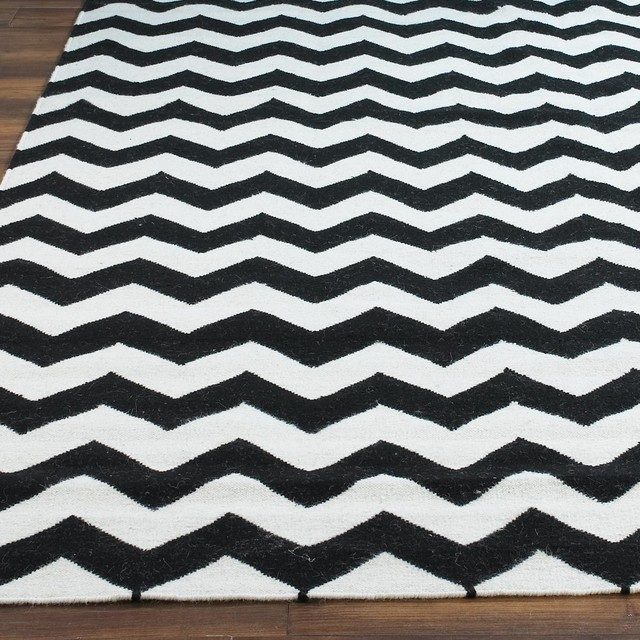 Chevron Dhurrie Rug   Black U0026 White   Rugs   By Shades Of Light