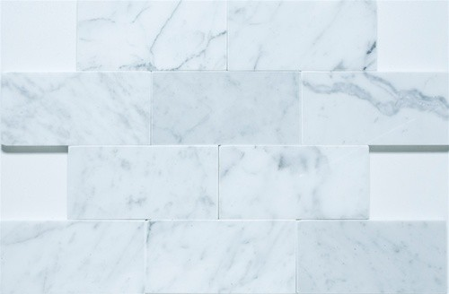 3x6 Bianco Carrara - Polished traditional bathroom tile
