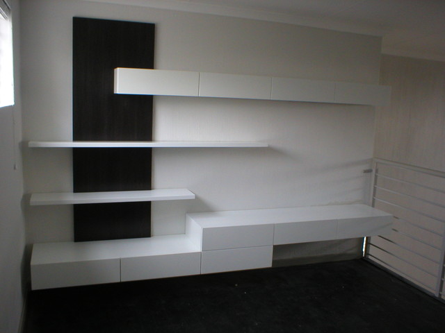 Floating Cupboards contemporary-home-theater