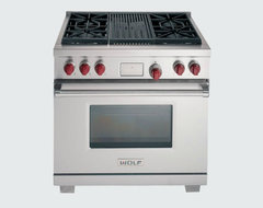 """36"""" Wolf Dual Fuel Range contemporary-gas-ranges-and-electric-ranges"""