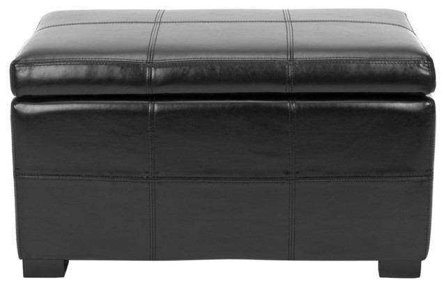 Lucas Storage Bench in Black contemporary-benches