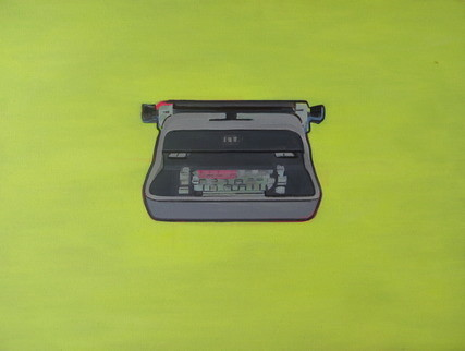 Iconic Vintage Typewriter Painting (Original) by Wyatt Mcdill contemporary-originals-and-limited-editions