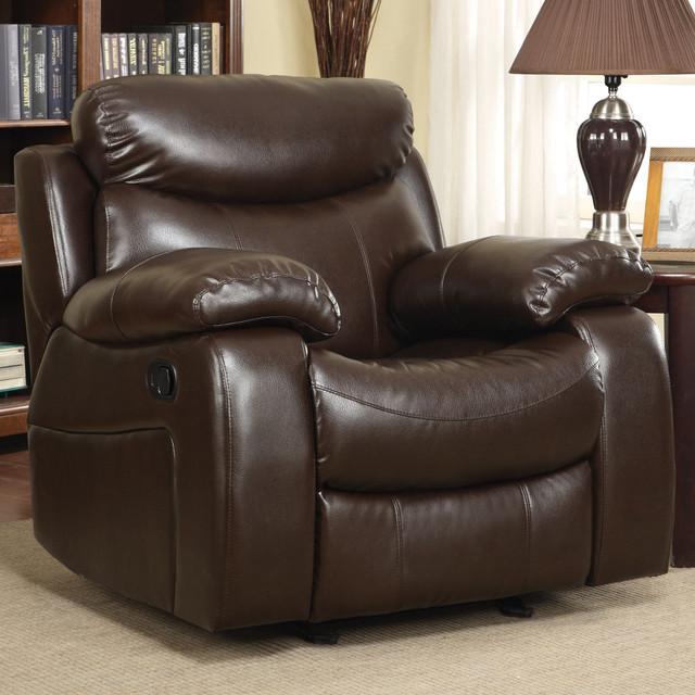 Denisa Rocker Recliner, Brown modern-rocking-chairs