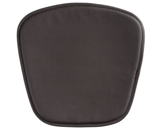 Zuo Modern - Chair Cushion in Espresso - Soft leatherette seat. Fits the Zuo mesh and wire chair. 18 in. W x 18 in D x 0.5 inches - 8oz Wt