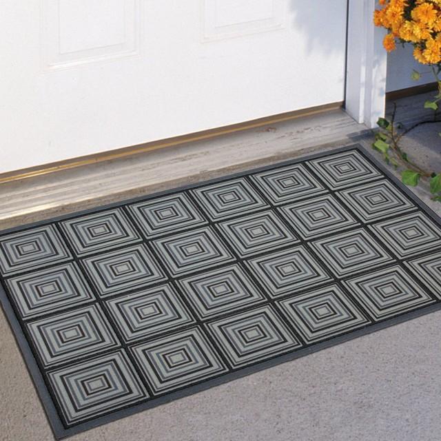 Mohawk Industries Perfect Square Blue 23 X 35 Doormat