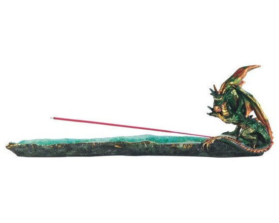 GSC - 13 Inch Green Dragon Incense Burner - This gorgeous 13 Inch Green Dragon Incense Burner has the finest details and highest quality you will find anywhere! 13 Inch Green Dragon Incense Burner is truly remarkable.
