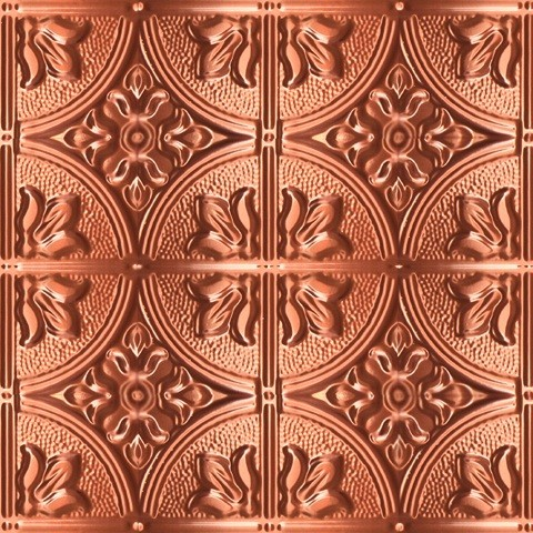 1204 Aluminum Ceiling Tile - Polished Copper 2ft x 2ft ceiling-tile