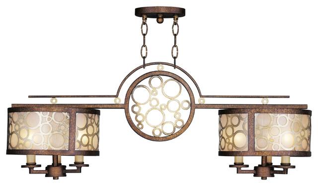Modern Billiard Table Lights: Livex Avalon Billiard/Island 8672-64