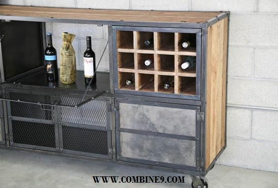 Liquor Cabinet/Bar Modern/Industrial. Reclaimed Wood. Custom ...