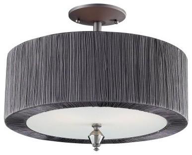 ELK Lighting Beaumont 11321/2 Semi-Flush - Graphite - 16W in. modern-ceiling-lighting