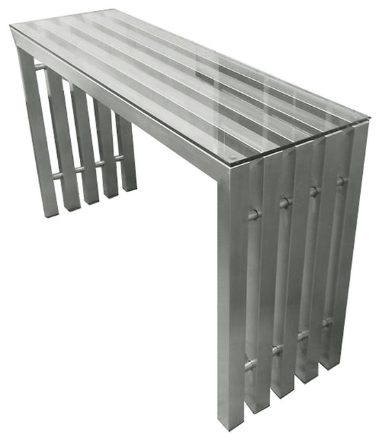City Stainless Steel Console Table - Modern - Console Tables - by Advanced Interior Designs