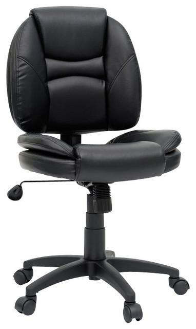 Sauder DuraPlush Task Chair in Black transitional-task-chairs