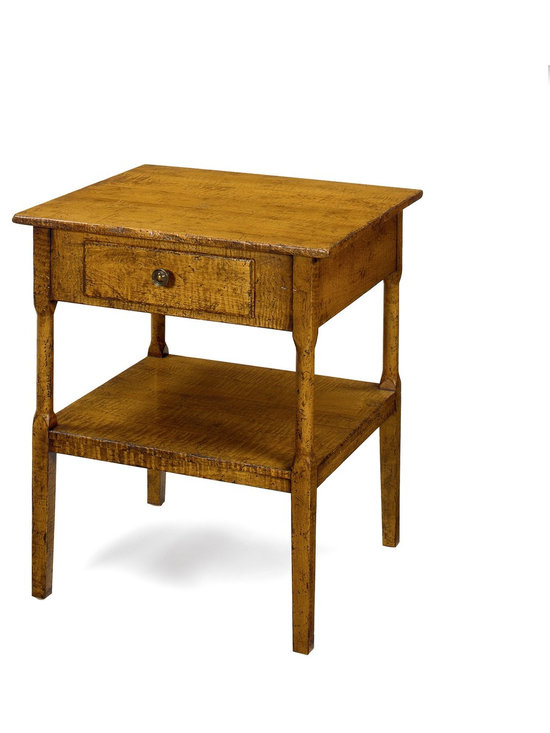 Wright Table Company - The No. 32 Side Table, Curly Maple, Maple 1 Finish -