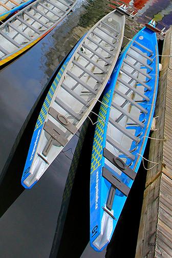 Outrigger Canoe Boats by Ben and Raisa Gertsberg - canvas art, art print, giclee beach-style-artwork