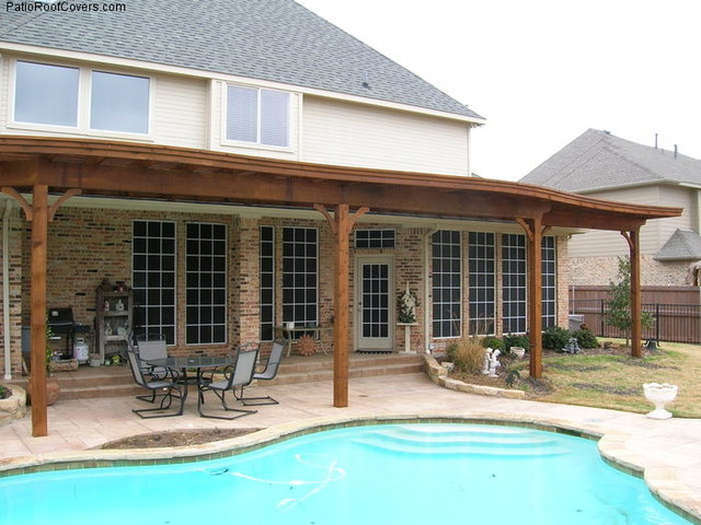 Flat Patio Covers - Rustic - dallas - by Deck Masters
