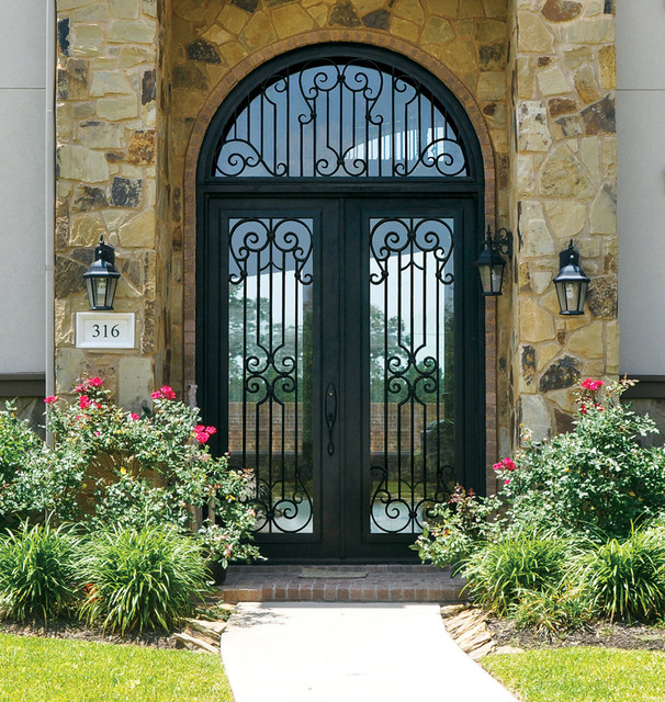 Mediterranean front doors for Steel front entry doors