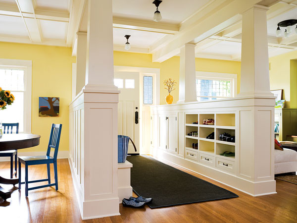 Foyer Open To Dining Room : Entryway columns myhomeideas other metro