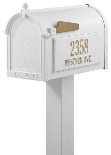 Premium Personalized Mailbox Package traditional-mailboxes