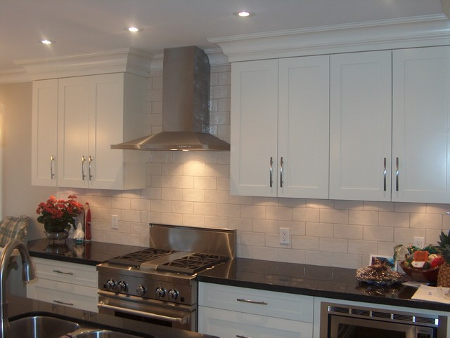 Bright White Shaker Cabinets - kitchen cabinets - other metro - by