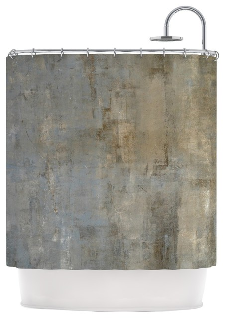 Carollynn Tice Overlooked Brown Gray Shower Curtain Contemporary Shower Curtains By Kess