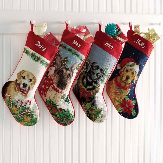 Contemporary Christmas Stockings And Holders by The Orvis Company