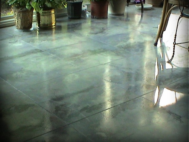 Artistic Concrete Flooring : Existing interior concrete floor eclectic
