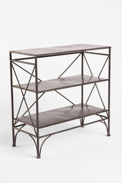 metal bookcase contemporary bookcases by urban outfitters. Black Bedroom Furniture Sets. Home Design Ideas