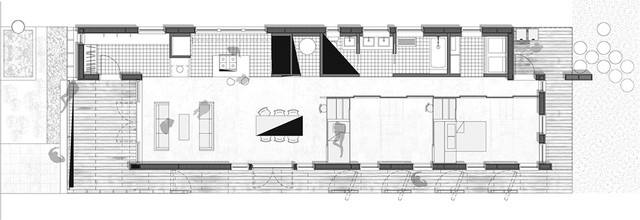contemporary floor plan by Princeton Architectural Press