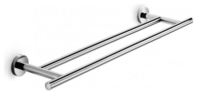 "Spriz Double Towel Rail 25.6"" contemporary-towel-bars"