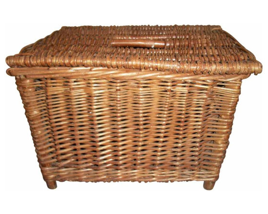 Fish Basket - Wicker made English fish basket used to carry and store fish.