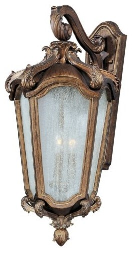 Maxim Lighting Maxim 40225NSWN Bastille VX Outdoor Wall Mount - 13W in. Walnut traditional outdoor lighting