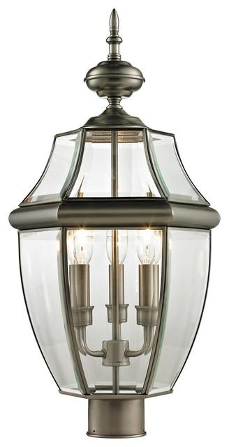Ashford Traditional Outdoor Post Lantern Light traditional-outdoor-lighting