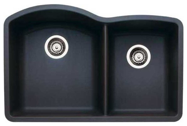 Blanco Diamond Silgranit Undermount Sink Anthracite Black contemporary ...