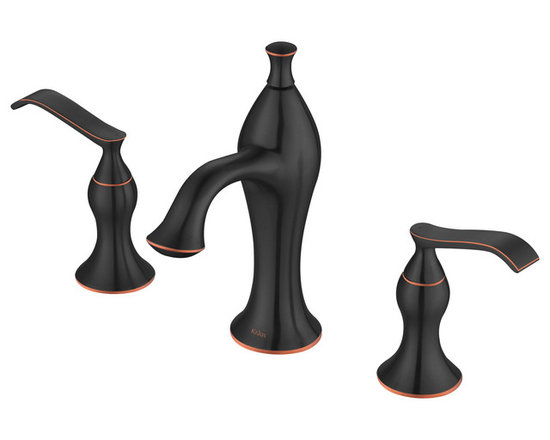 Kraus - Kraus KEF-15003ORB Ventus 8-inch 2-Handle Widespread Bathroom Faucet Oil Rubbed - Give your bathroom a style upgrade with the Ventus 2-handle